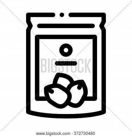 Nut Package Icon Vector. Nut Package Sign. Isolated Contour Symbol Illustration