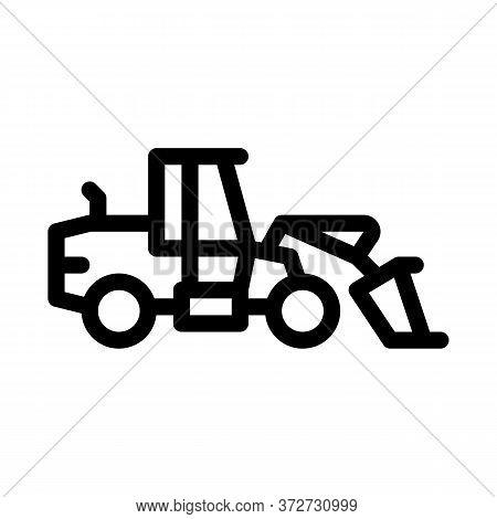 Road Repair Machine Icon Vector. Road Repair Machine Sign. Isolated Contour Symbol Illustration
