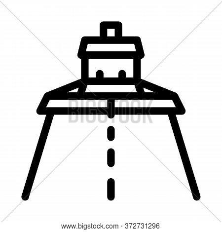 Road Repair Paver Machine Icon Vector. Road Repair Paver Machine Sign. Isolated Contour Symbol Illus