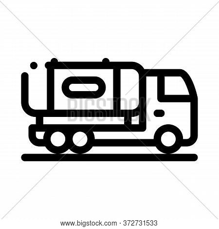 Juice Concentrate Delivering Truck Icon Vector. Juice Concentrate Delivering Truck Sign. Isolated Co