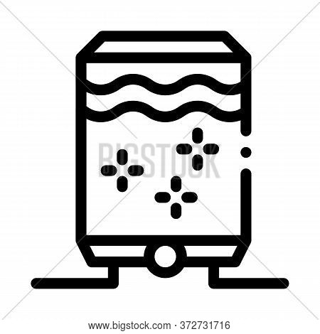 Juice Concentrate Tank Icon Vector. Juice Concentrate Tank Sign. Isolated Contour Symbol Illustratio