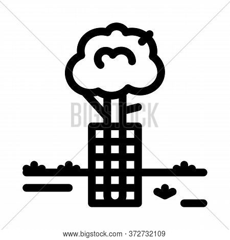 Tree Safe Fence Icon Vector. Tree Safe Fence Sign. Isolated Contour Symbol Illustration