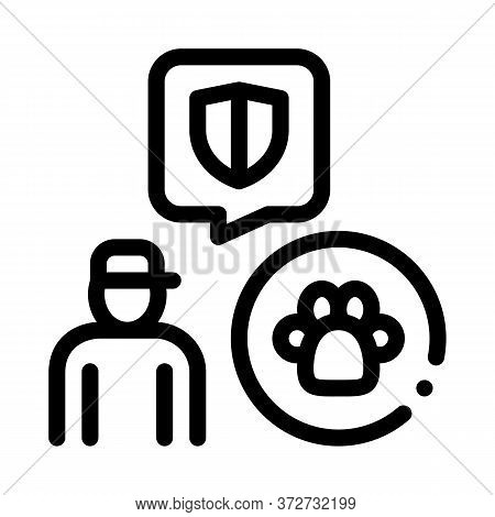 Animal Defender Protector Icon Vector. Animal Defender Protector Sign. Isolated Contour Symbol Illus