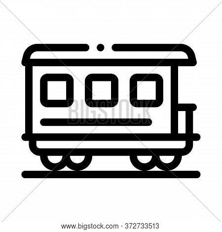 Passenger Railway Carriage Icon Vector. Passenger Railway Carriage Sign. Isolated Contour Symbol Ill
