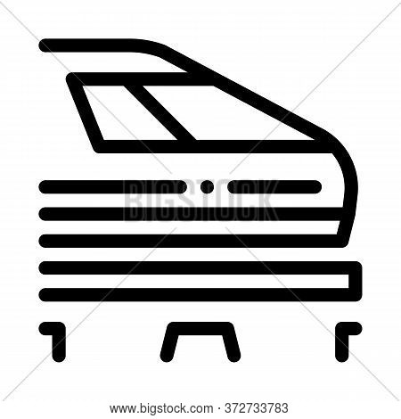 Electromagnetic Train Icon Vector. Electromagnetic Train Sign. Isolated Contour Symbol Illustration