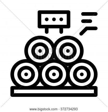 Wood Trunks Icon Vector. Wood Trunks Sign. Isolated Contour Symbol Illustration