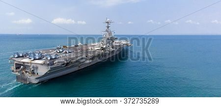 Army Navy Nuclear Ship Carrier Full Fighter Jet Aircraft Concept Technoly Of Battleship.