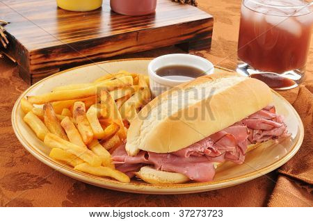 Roast Beef Sandwich With French Fries
