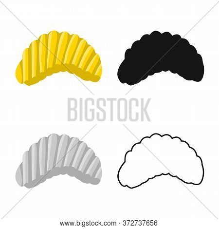 Isolated Object Of Chip And Fluted Icon. Web Element Of Chip And Crunchy Stock Vector Illustration.