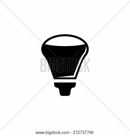 Led Light Bulb, Diode Eco Lamp, Lightbulb. Flat Vector Icon Illustration. Simple Black Symbol On Whi