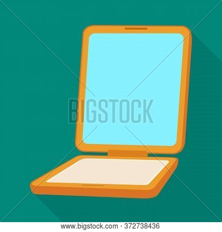 Vector Illustration Of Mirror And Decoration Sign. Graphic Of Mirror And Elegant Stock Symbol For We