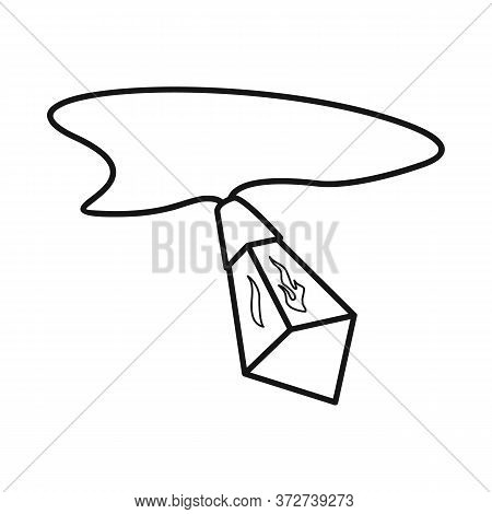 Vector Illustration Of Crystal And Amulet Sign. Graphic Of Crystal And Gem Stock Symbol For Web.