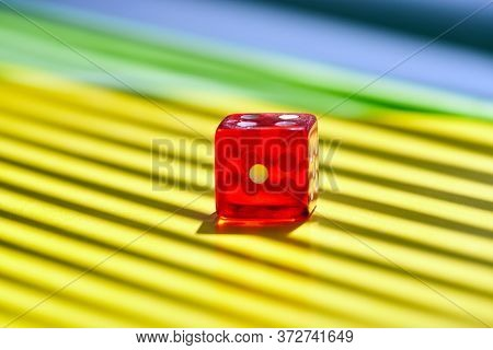 Red Transparent Casino Dice. The Concept Of Dice Gambling In Casinos