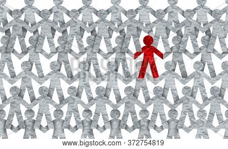 Racism Symbol Or Individuality Icon Or A Contagious And Infectios Person Self Isolating Or Social Di