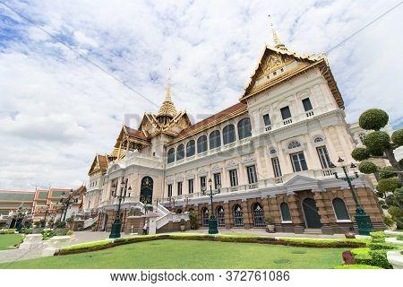 The Royal Grand Palace And Temple Of The Emerald Buddha Bangkok, Thailand - June 18,2020 : The Chakr