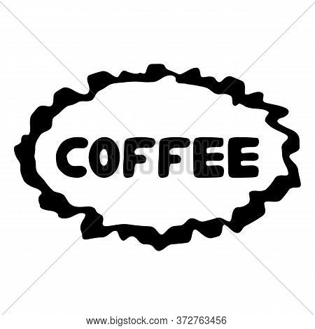 Coffee Logo. Cute Hand Drawn Bauble Lettering. Isolated On White Background. Vector Stock Illustrati