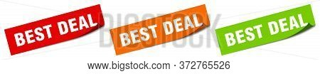Best Deal Sticker. Best Deal Square Isolated Sign. Best Deal Label