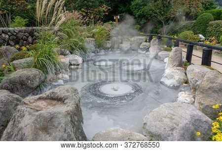 The Oniishi Bozu Jigoku (mud Hell) Is One Of Eight Beppu Hot Spring (onsen). The Most Famous At Bepp