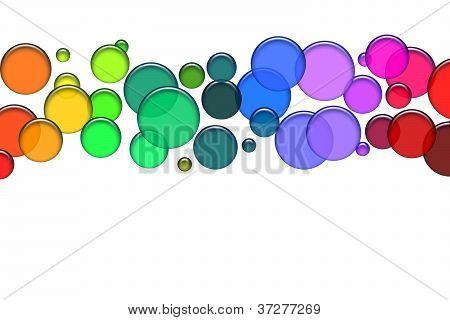 Blue bubbles as illustration for your background presentation website poster
