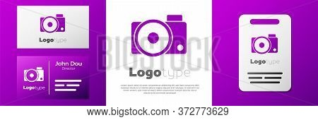 Logotype Photo Camera Icon Isolated On White Background. Foto Camera Icon. Logo Design Template Elem