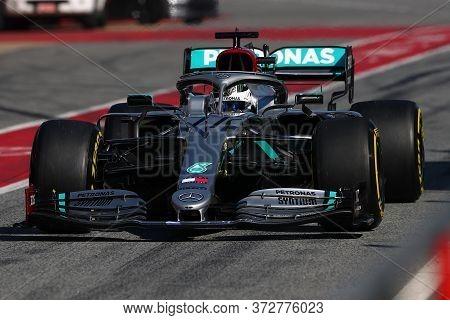 Barcelona, Spain. 21th February 2020. Formula 1 Pre-season Test. Valtteri Bottas  Of  Mercedes Amg P