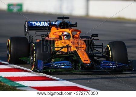 Barcelona, Spain. 21th February 2020. Formula 1  Pre-season Test. Carlos Sainz   - Mclaren F1 Team M