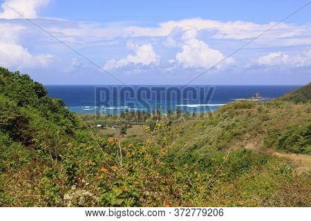 Exotic View Of Mawun Beach In Lombok, Indonesia. Kuta Lombok Is An Exotic Paradise On The Indonesian