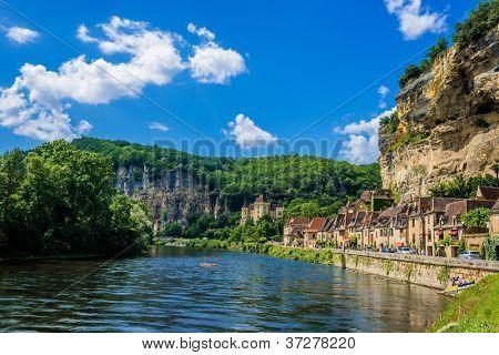 beautiful village of La roque gageac dordogne perigord France