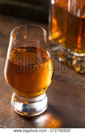 Boozy Amber Whiskey In A Snifter