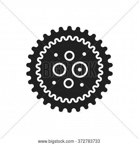 Virus Hepatitis B Black Glyph Icon. Bacteria, Microorganism Sign. Disease And Illness Concept. Picto