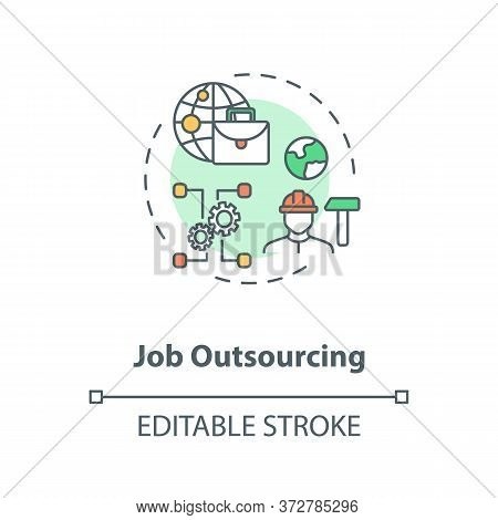 Job Outsourcing Concept Icon. Freelance Position. Delegate Work To Foreign Employee. Remote Job Idea