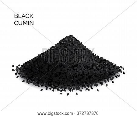 Black Cumin, Nigella Sativa Or Black Caraway Seeds