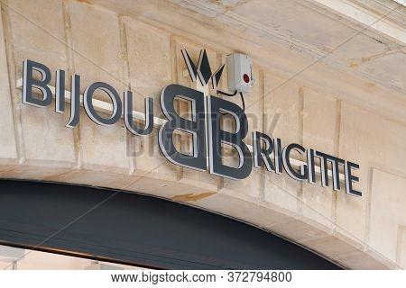 Bordeaux , Aquitaine / France - 06 14 2020 : Bijou Brigitte Store Logo Sign Of Company Provides Fash