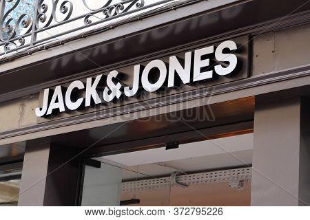 Bordeaux , Aquitaine / France - 11 07 2019 : Jack&jones Store Sign Logo Store Fashion Shop Clothin