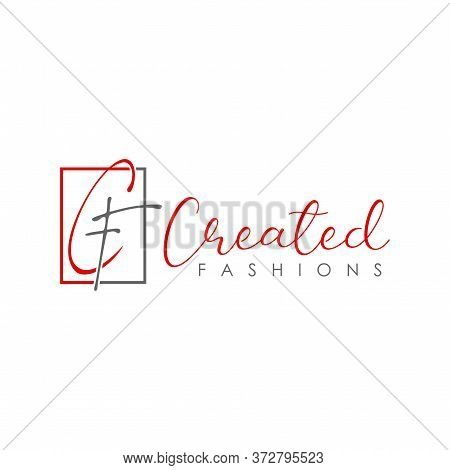 Logo, Design, Vector, Symbol, Idea, Concept, Image, Graphic, Font, Cf Letter With Artistic Form That