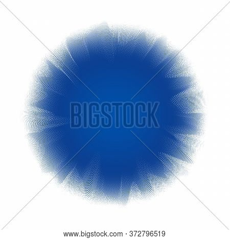 Abstract Background With Many Particles. Optical Illusion Of Distortion Of Space.