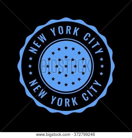 Vector Retro Illustration On The Theme Of Nyc. Urban. Stylized Vintage  Typography, Banner, Flyer, P