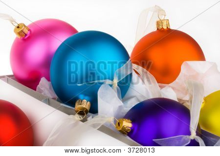 Christmas Baubles Boxed And Unboxed
