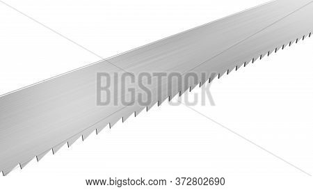 Saw Blade Isolated On White Background. Single Object. 3d Illustration.