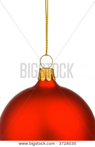 Vibrant Red Christmas Bauble