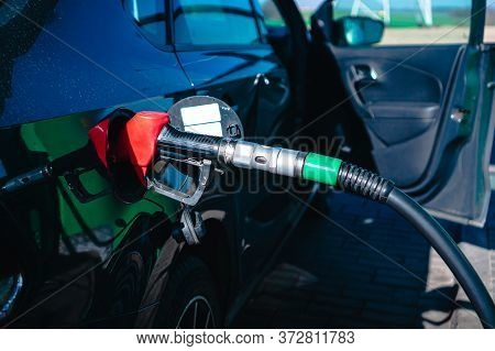 Refill And Filling Oil Gas Fuel At Station, Refueling A Car, Rising Fuel Prices, Oil Rises In Price