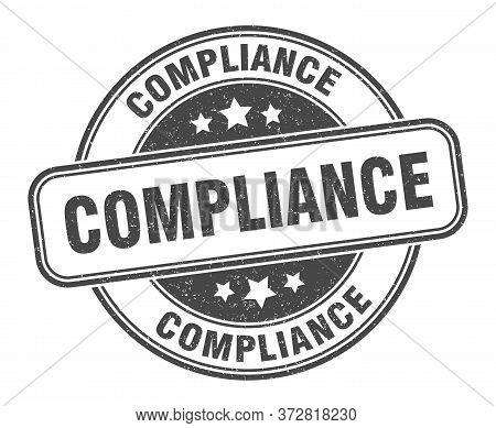 Compliance Stamp. Compliance Round Grunge Sign. Label