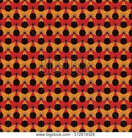 African Style Seamless Pattern. Bright Ethnic And Tribal Floral Ornament. Ankara Wax Inspired Textil