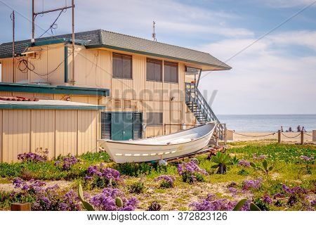 Lifeguards Headquarter At Malibu Beach - Travel Photography
