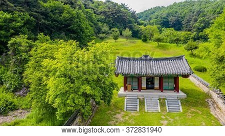 Cheongju, South Korea; May 31, 2020: Aerial View Of Shrine Honoring Independence Activist, Historian