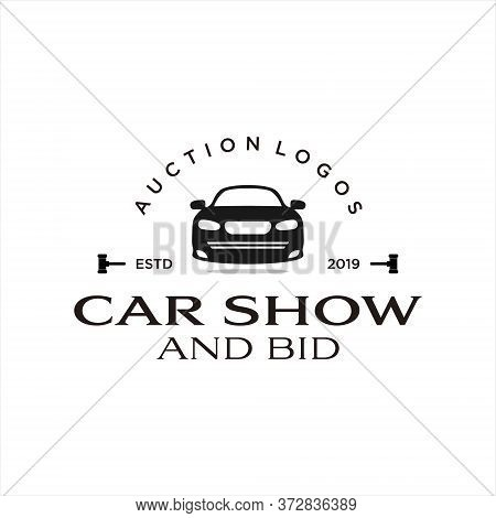 Bid Logo Vintage Style Car Show And Auction Icon Inspiration. Automotive Design Inspiration