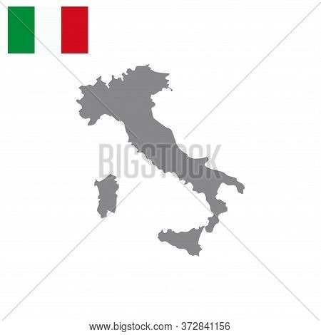 Italian Map Vector Isolated On White Background. Italian Map. Italian Map Vector. Italian Country Wo