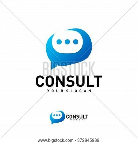 Business Consulting Logo Template. Speech Bubble Vector Design. Consult Logotype