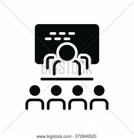 Black Solid Icon For Explained Decode Exhort Decipher People