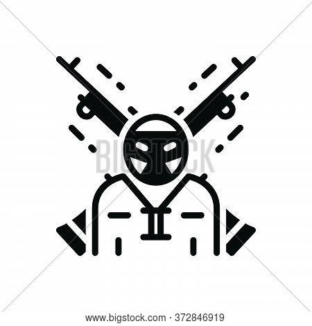 Black Solid Icon For Extremist  Terrorist Rebel Radical Malcontent